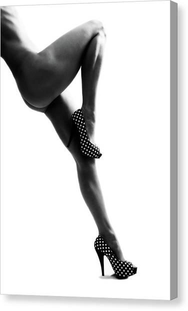 Legs Canvas Print - Polka Dots by Bart Peeters