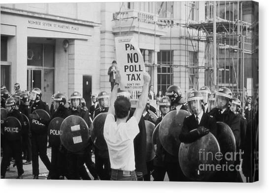 Poll Tax Riots London Canvas Print