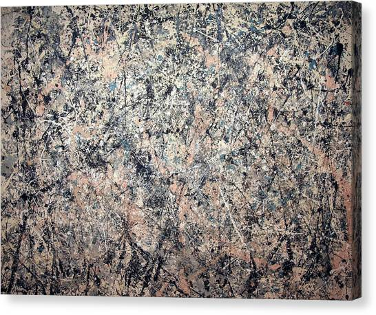Washington Nationals Canvas Print - Pollock's Number 1 -- 1950 -- Lavender Mist by Cora Wandel