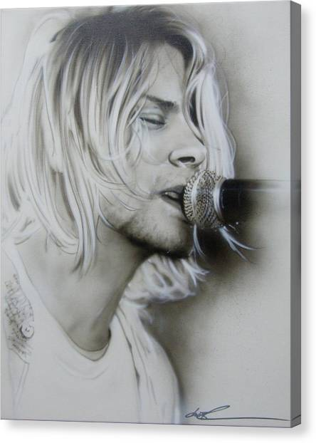 Kurt Cobain Canvas Print - Polly by Christian Chapman Art