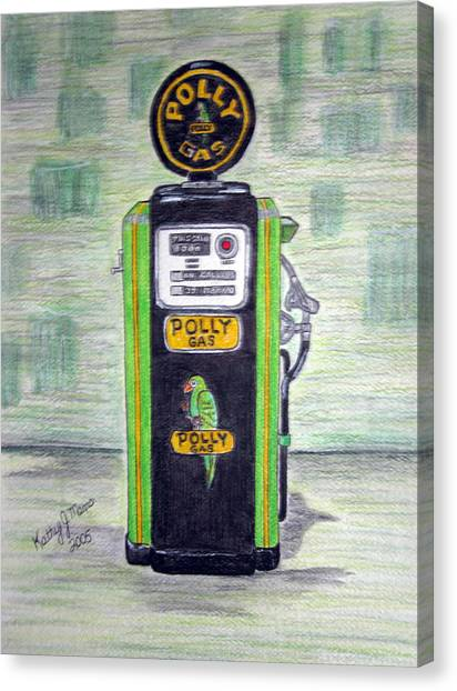 Polly Gas Pump Canvas Print