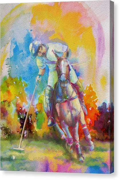 Calgary Flames Canvas Print - Polo Art by Catf
