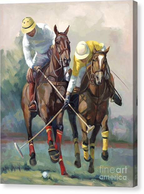 Polo Canvas Print - Polo by Laurie Hein