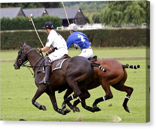 Polo Match In Argentina Canvas Print