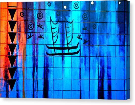 Shark Teeth Canvas Print - Polynesian Graffiti  by Karon Melillo DeVega