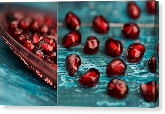 Fruit Canvas Print - Pomegranate Collage by Nailia Schwarz