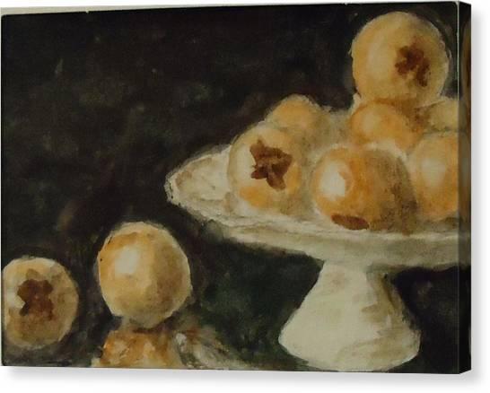 Pomegranates Canvas Print by Katie Spicuzza
