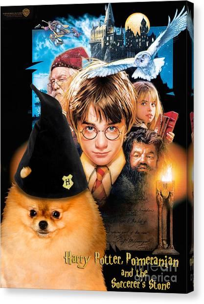 Pomeranian Art Canvas Print - Harry Potter Movie Poster Canvas Print