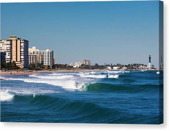 Pompano Beach, Florida, Exterior View Canvas Print