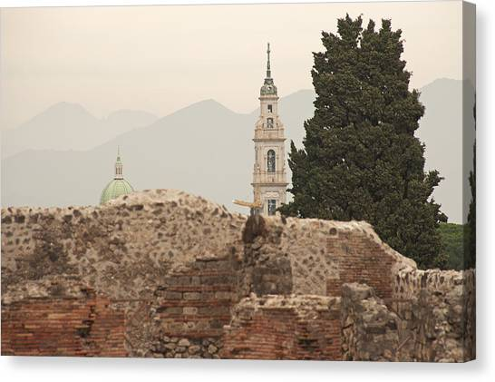 Mount Vesuvius Canvas Print - Pompeii And Beyond by Doug Davidson