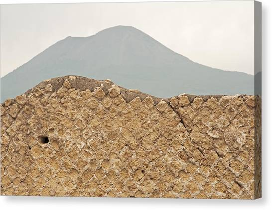 Mount Vesuvius Canvas Print - Pompeii And Mount Vesuvius by Doug Davidson