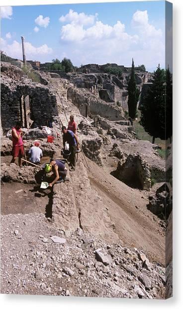 Mount Vesuvius Canvas Print - Pompeii by Tony Camacho/science Photo Library