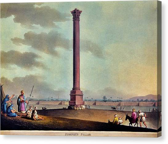 Hellenistic Art Canvas Print - Pompey's Pillar by Patrick Landmann/science Photo Library