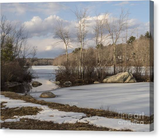 Ponaganset In Winter Canvas Print