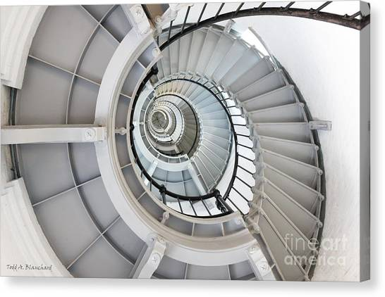 Ponce De Leon Inlet Lighthouse Staircase Canvas Print