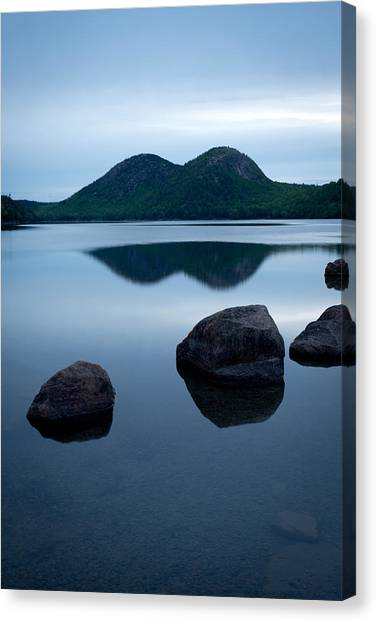 Jordan Pond Canvas Print - Pond At Dawn, Jordan Pond, Bubble Pond by Panoramic Images