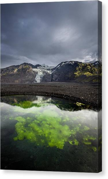 Eyjafjallajokull Canvas Print - Pond With Algae And Ash,from by Panoramic Images