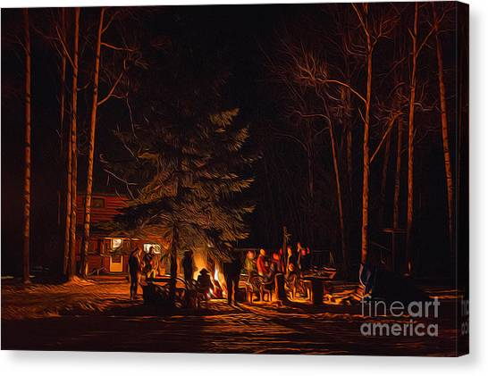 Ponderosa Christmas '14 Canvas Print
