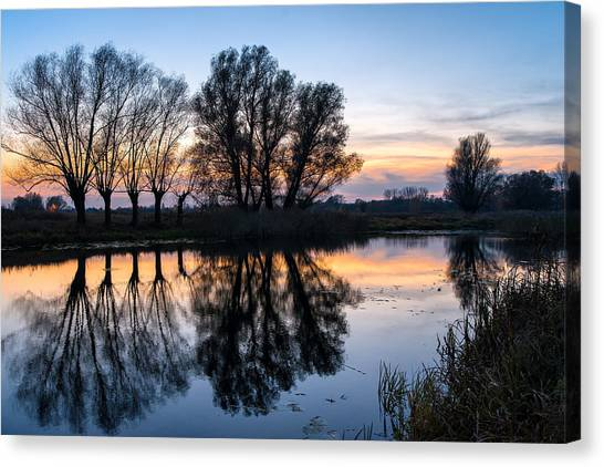 Ponds In Lomna 2 Canvas Print