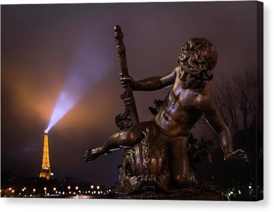 Eiffel Tower Canvas Print - Pont Alexandre IIi, Paris by Artistname
