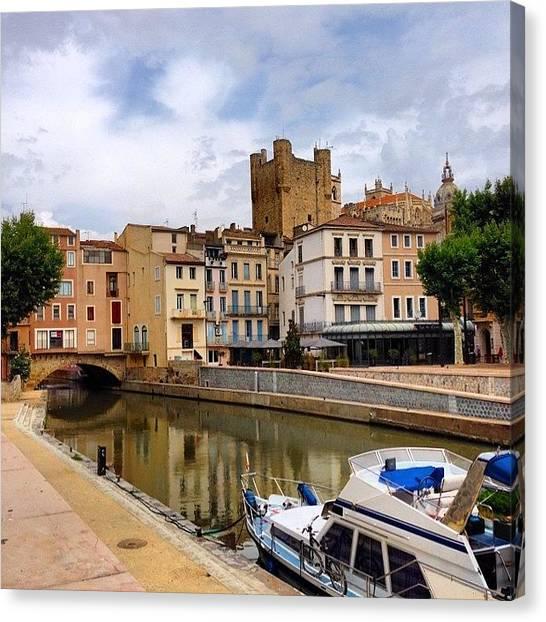 Old Age Canvas Print - Pont Des Marchands - Narbonne France by Cristina Stefan