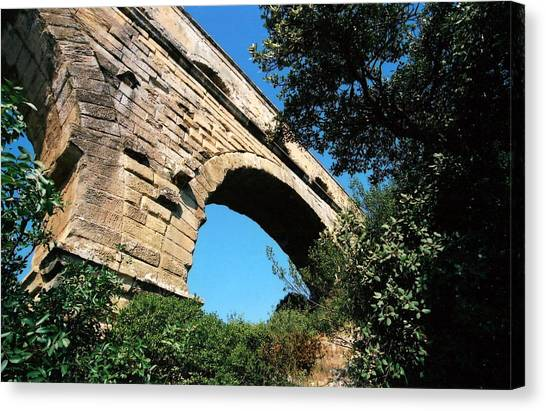 Pont Du Gard Canvas Print by Carrie Warlaumont