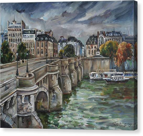 Pont Neuf At Dusk Canvas Print