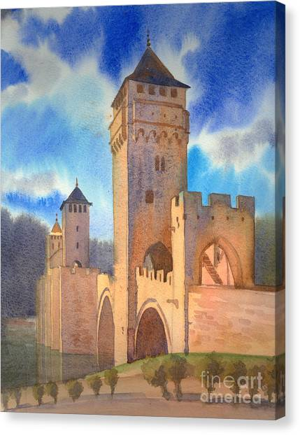 Pont Volontre Cahors France Canvas Print by Katia Weyher