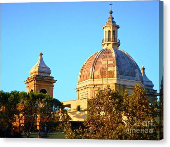 Ponte Milvio Roma Canvas Print