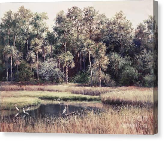 Wetlands Canvas Print - Ponte Vedre II by Laurie Hein