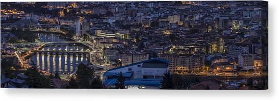 Pontevedra Panorama From A Caeira Canvas Print