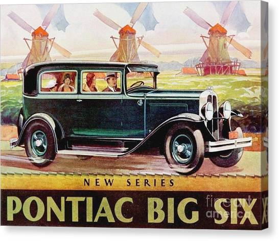Pontiac Big Six - Poster Canvas Print by Roberto Prusso