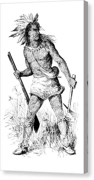 Notable Canvas Print - Pontiac, Odawa War Chief by British Library