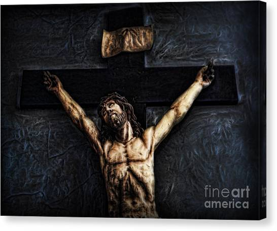 Pontius Pilate's Punishment - Crowned With Thorns Canvas Print by Lee Dos Santos