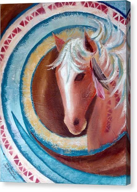 Pony Dreamer Canvas Print by Chris Morningforest