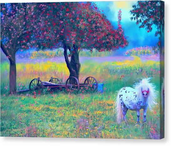 Pony In Pasture Canvas Print