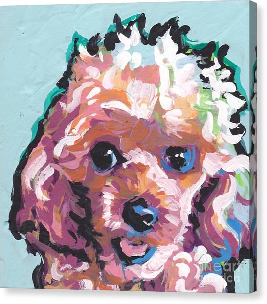 Poodles Canvas Print - Poodle Baby by Lea S