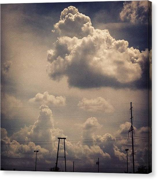 Philadelphia Canvas Print - Poofy Clouds Today by Katie Cupcakes