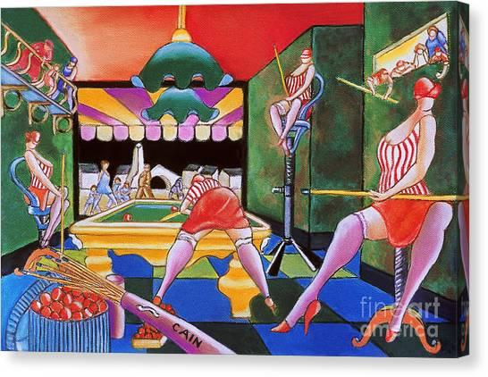Pool Hall Ladies  Canvas Print