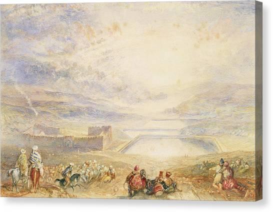Palestinian Canvas Print - Pools Of Solomon by Joseph Mallord William Turner