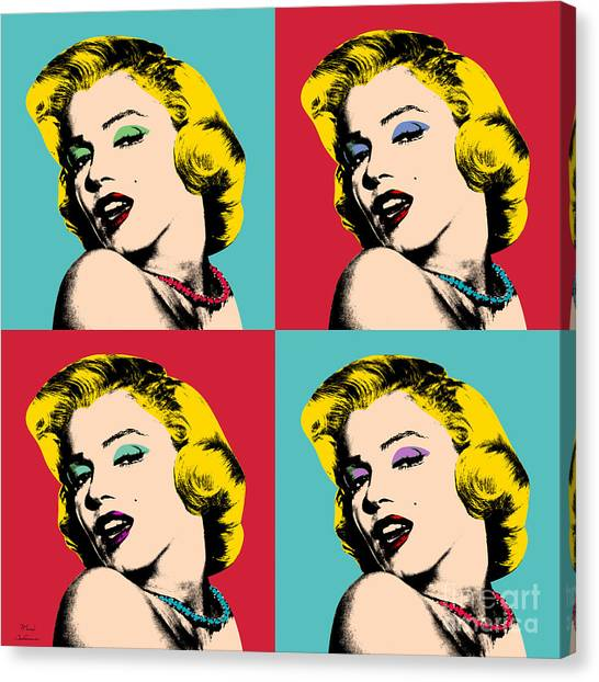 Marilyn Monroe Canvas Print - Pop Art Collage  by Mark Ashkenazi