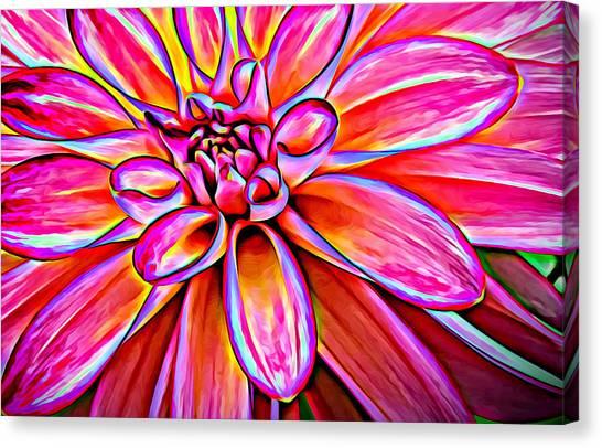 Pop Art Dahlia Canvas Print