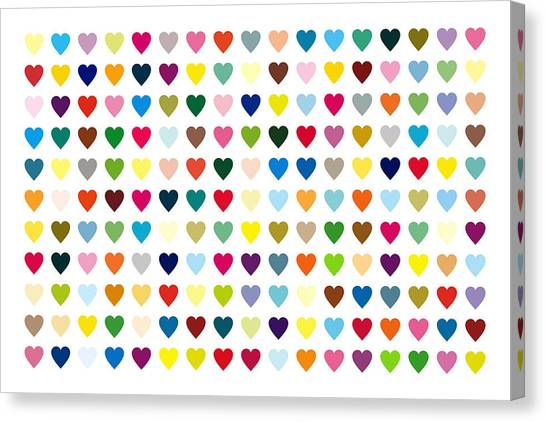 Canvas Print - Pop Art Heart by Mark Preston