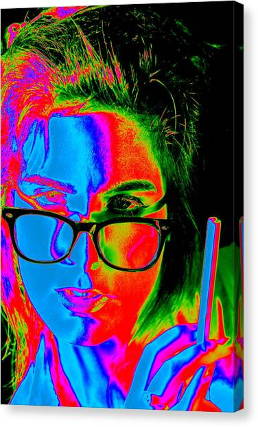 Pop Art Lady Canvas Print by Arie Arik Chen
