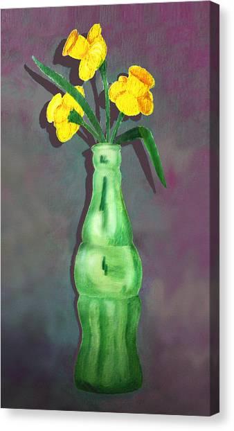 Pop Bottle Daffodil Canvas Print