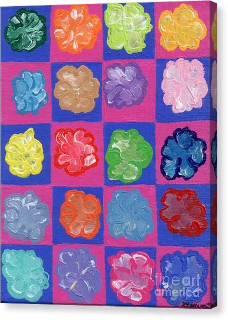 Andy Bloom Canvas Print - Pop Flowers by Melissa Vijay Bharwani