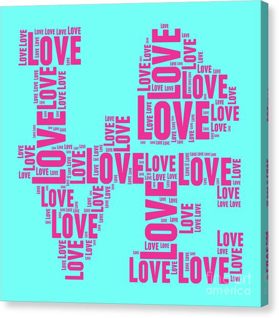 Andy Warhol Canvas Print - Pop Love 1 by Delphimages Photo Creations