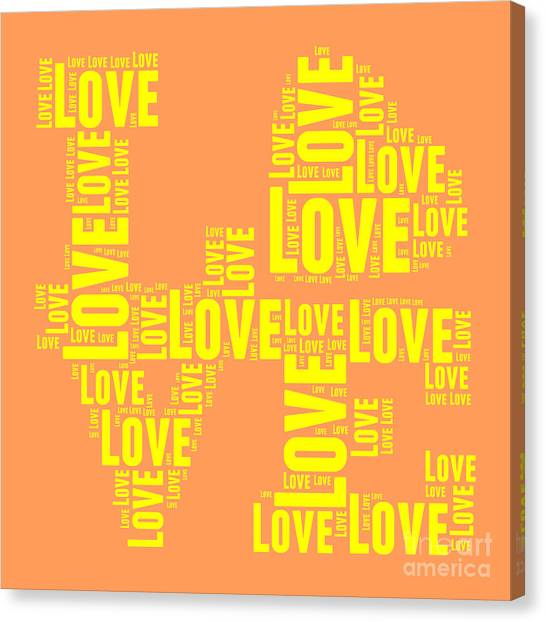 Andy Warhol Canvas Print - Pop Love 3 by Delphimages Photo Creations