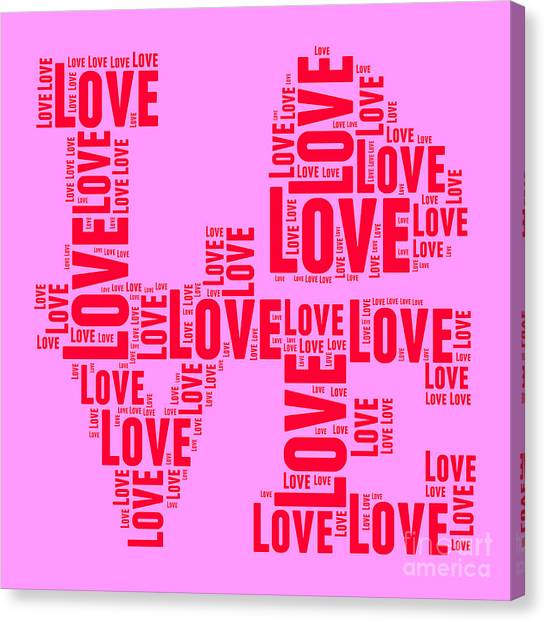 Andy Warhol Canvas Print - Pop Love 4 by Delphimages Photo Creations