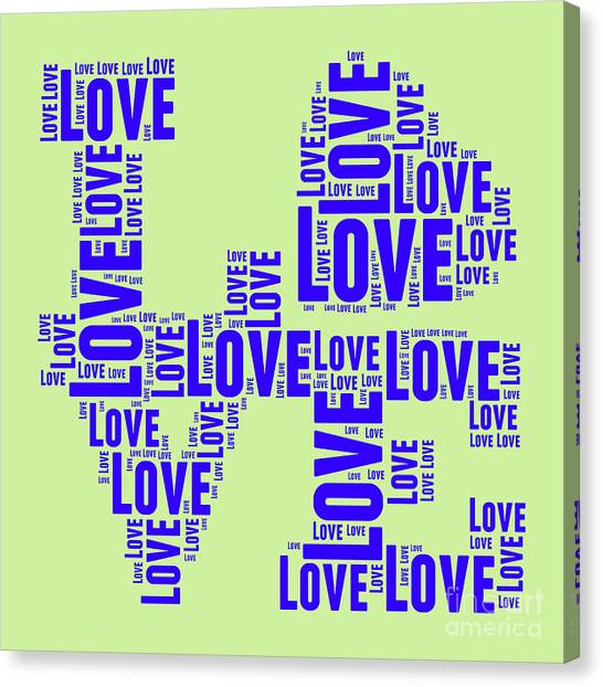 Andy Warhol Canvas Print - Pop Love 5 by Delphimages Photo Creations